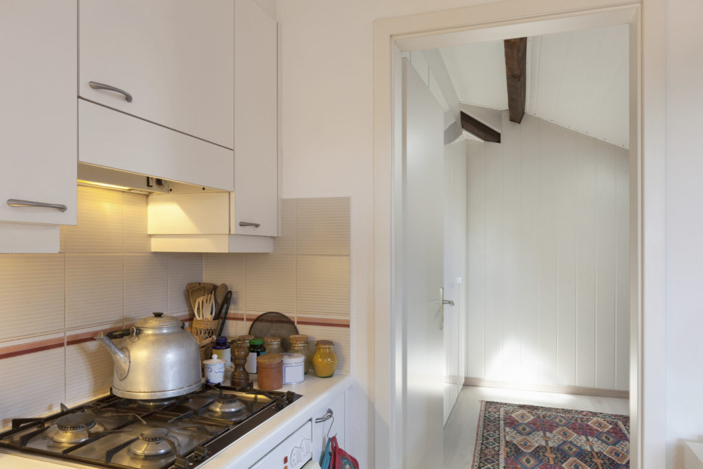 Interior, gas cooker of a kitchen